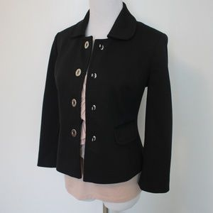 ANN TAYLOR LOFT Size 2 Black Jacket Blazer
